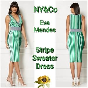 Eva Mendes Collection - Stripe Sweater Dress